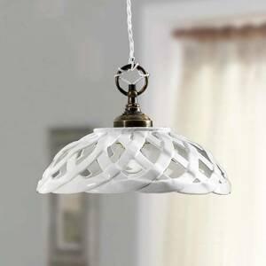 Ceramiche Závesná lampa Emanuel Keramik priemer Ø 32 cm