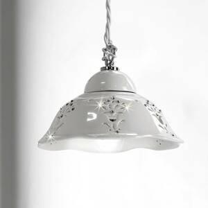 Ceramiche Závesná lampa Guiliano keramické tienidlo 20,5 cm