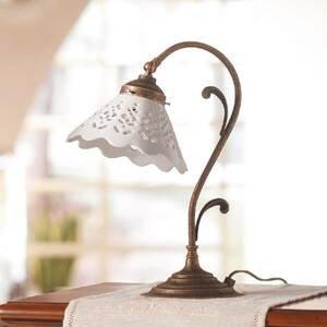 Ceramiche Stolná lampa Semino s keramickým tienidlom