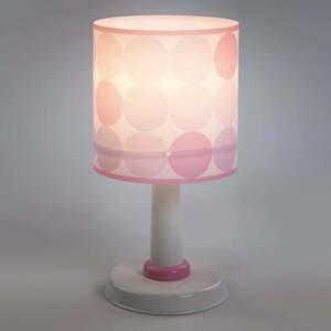 Dalber Colors – bodkovaná stolná lampa v ružovej farbe