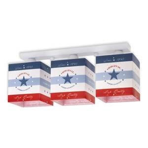 Dalber Pruhované stropné svietidlo American Style, 3-pl.