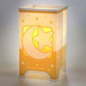 Dalber Fluoreskujúca stolná lampa Stars v oranžovej