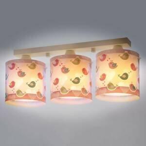 Dalber Birds – 3-plameňové stropné svetlo pre detskú izbu