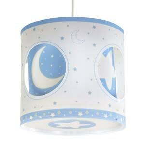 Dalber Závesná lampa Nočná obloha, otočná, modrá