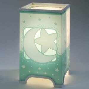 Dalber Mätová zelená stolná LED lampa Nočná obloha
