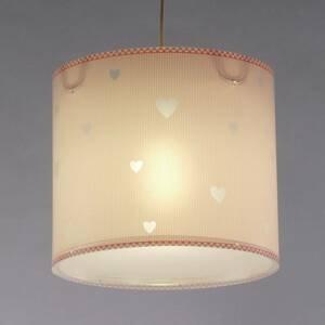 Dalber Ružová detská závesná lampa Sweet dreams
