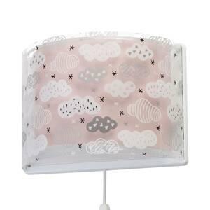Dalber Detské nástenné svietidlo Clouds v ružovej
