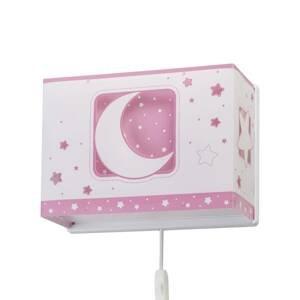 Dalber Detské nástenné svetlo Moonlight zástrčka, ružová