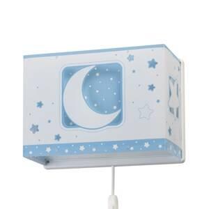Dalber Detské nástenné svetlo Moonlight zástrčka, modrá