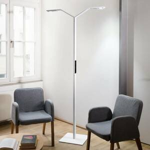Luctra Luctra Floor Twin Linear stojaca LED lampa biela