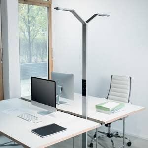 Luctra Luctra Floor Twin Linear stojaca LED lampa hliník