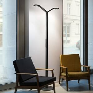 Luctra Luctra Floor Twin Radial stojaca LED lampa čierna