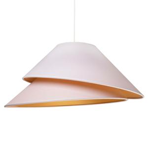 DUOLLA Textilná závesná lampa Coco, biela