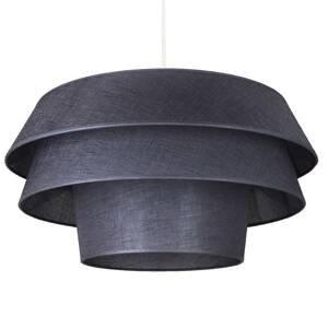 DUOLLA Textilná závesná lampa Lotos, grafit