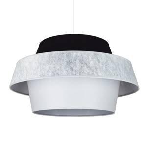 DUOLLA Závesná lampa Andromeda, biela/sivá/čierna