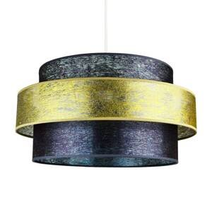 DUOLLA Závesná lampa Space, grafit/zlatá lesklá