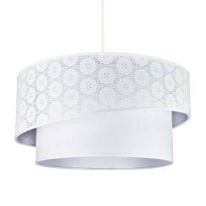 DUOLLA Závesná lampa Shine, biela, vzorovaná