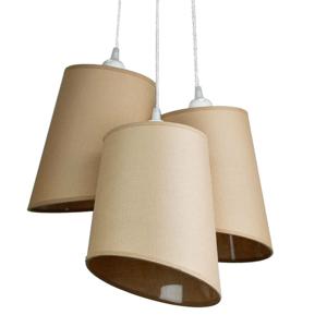 DUOLLA Závesná lampa Verona, 3-plameňová, kapučíno