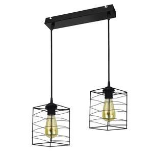 DUOLLA Závesná lampa Dantos, 2-plameňová, čierna