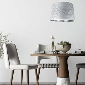 DUOLLA Závesná lampa Rustica so sivým čipkovaným vzorom