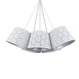 DUOLLA Závesná lampa Salsa, 5-pl., biela vzorovaná