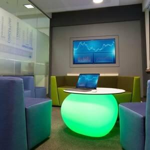 DEGARDO Lampa Storus IV LED RGB+CCT vysaditeľná biela