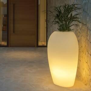 DEGARDO Deko lampa Storus V LED RGB+CCT rastlinná biela