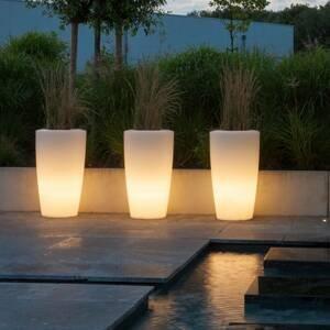 DEGARDO Lampa Rovio III vysaditeľná, biela priesvitná