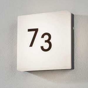 EGLO Nadčasové LED svetlo s číslom domu Cornale snímač