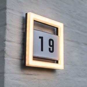 Eco-Light LED osvetlenie čísla domu Alice bez snímača