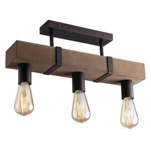 Eco-Light Stropné svietidlo Texas starožitné drevo, 3-pl.
