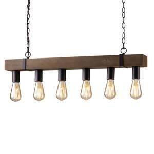 Eco-Light Závesná lampa Texas starožitné drevo, šesť-pl.