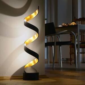 Eco-Light Stolná LED lampa Helix, výška 66cm, čierno-zlatá