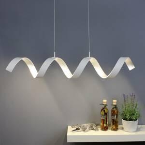 Eco-Light Závesné LED Helix, biela-striebro, dĺžka 80cm