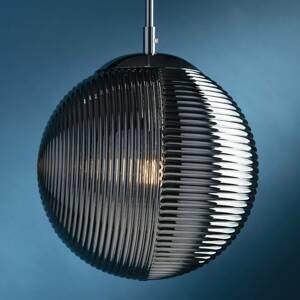Eco-Light Závesná lampa Greenwich, sklo chróm