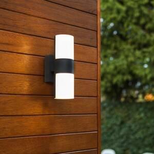 Eco-Light Vonkajšie nástenné LED svetlo Cyra 2-pl. čierna