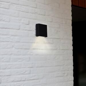 Eco-Light Vonkajšie nástenné LED svetlo Gemini XF mat čierna