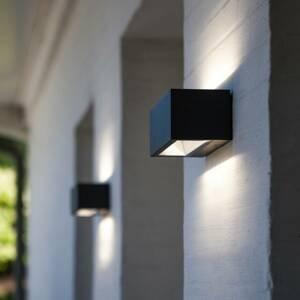 Eco-Light Vonkajšie LED svietidlo Gemini matná čierna 22cm