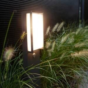 Eco-Light Chodníkové LED svetlo Qubo antracit detektor pohyb