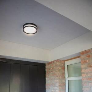 Eco-Light Vonkajšie stropné LED svietidlo Rola, matná čierna