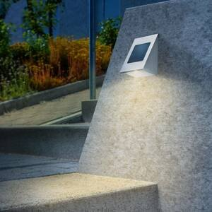 Esotec Solárne nástenné svietidlo Shine duo color z ocele