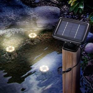 Esotec Solárne podvodné LED svetlo Splash 3 kusy