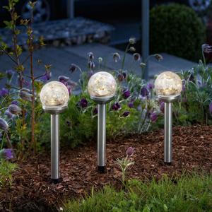 Esotec Dekoračné solárne LED Golden Balls súprava 3 kusov