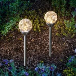 Esotec Solárna lampa Golden Dream s hrotom do zeme sada 2