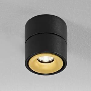 Egger Licht Egger Clippo stropné LED, čierno-zlaté, 2700K