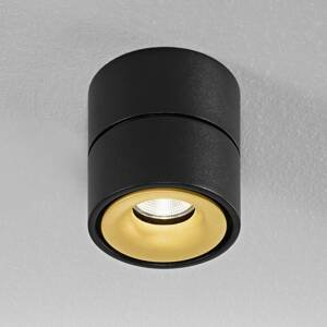 Egger Licht Egger Clippo stropné LED, čierno-zlaté, 3000K