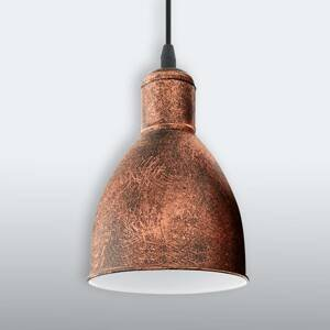 EGLO Vintage závesná lampa Priddy 1pl starožitná medená