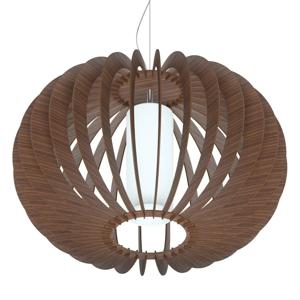 EGLO Závesná lampa Stellato z dreva, hnedá