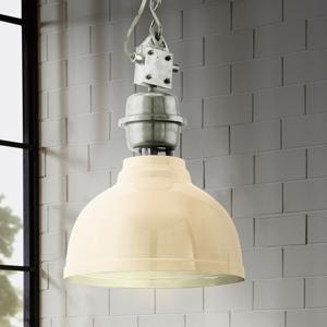 EGLO Krémová priemyselná závesná lampa Grantham