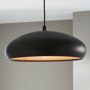 EGLO Závesná lampa Mogano s kovovým tienidlom čierna